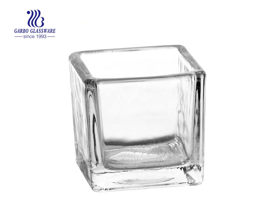 Square Glass Candle Holders