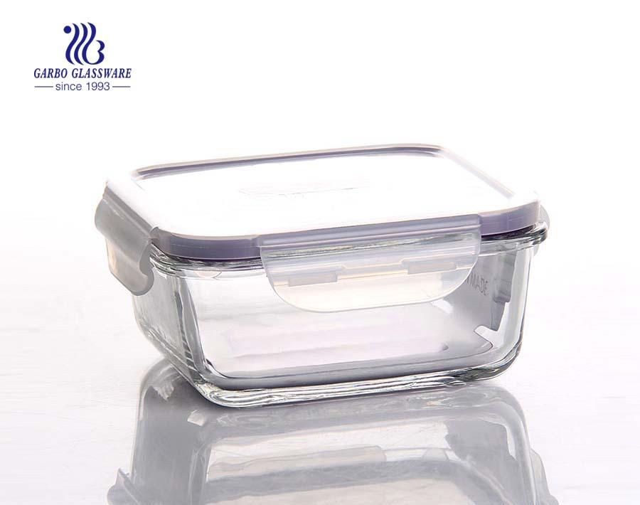 Pyrex 860ml glass food lunchbox with custom lid