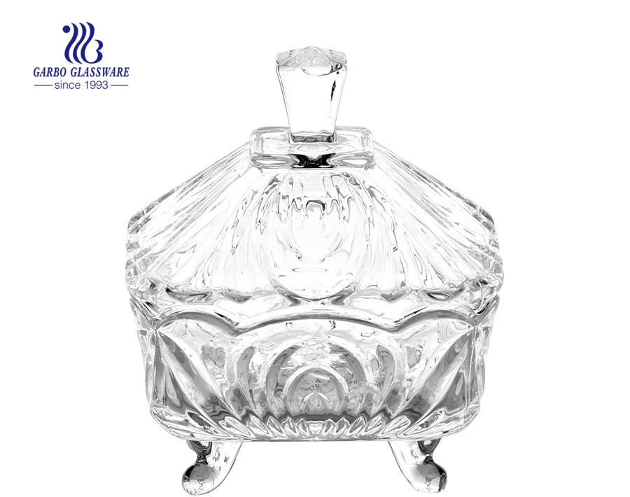 Engraved Glass Candy Jar with Lid glass candy jars wholesale