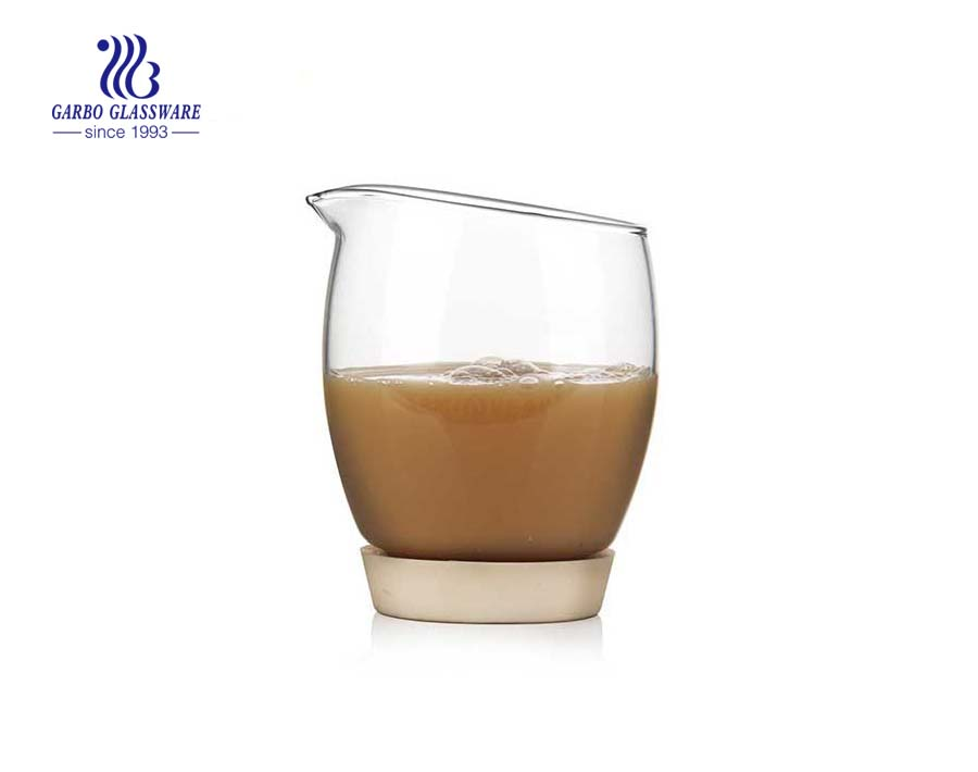 11oz Heat resistant cold & hot drink single wall glass cup for milk