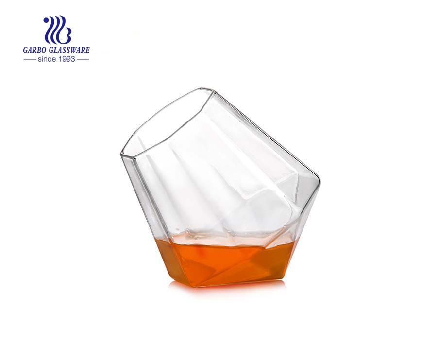 New arrival oven safe silicone base pyrex single wall glass water cup 15oz
