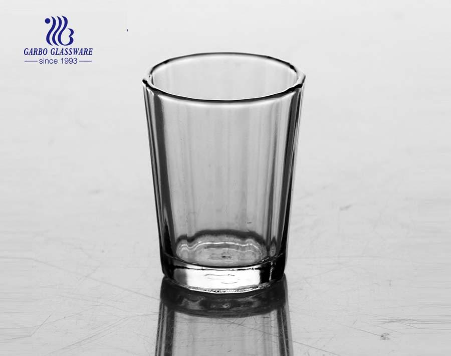 China 2.5oz proveedor de vidrio de tiro claro