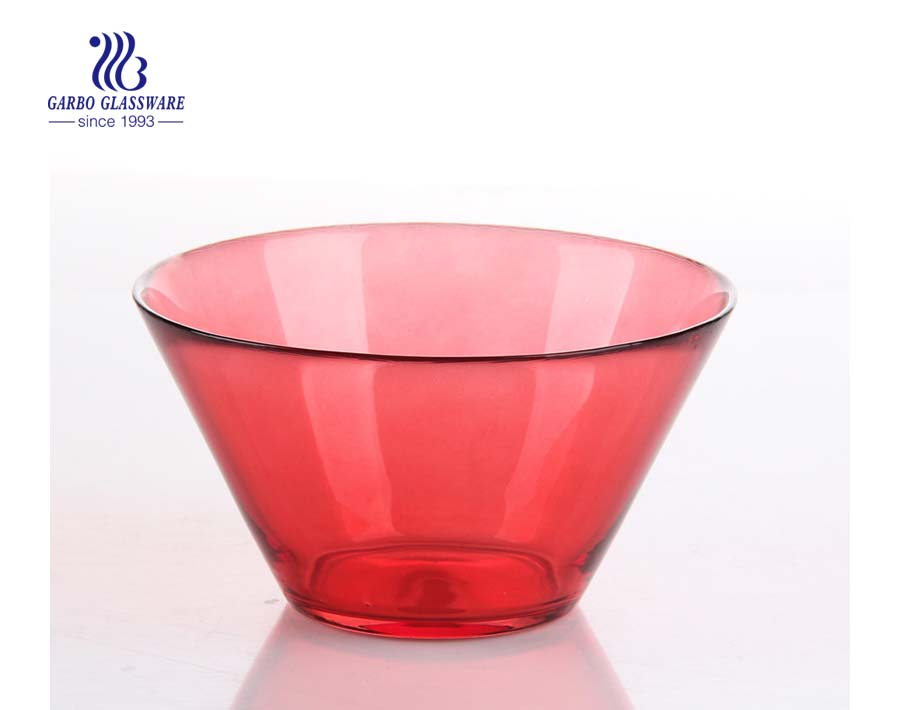 V shape glass salad bowl kitchenware