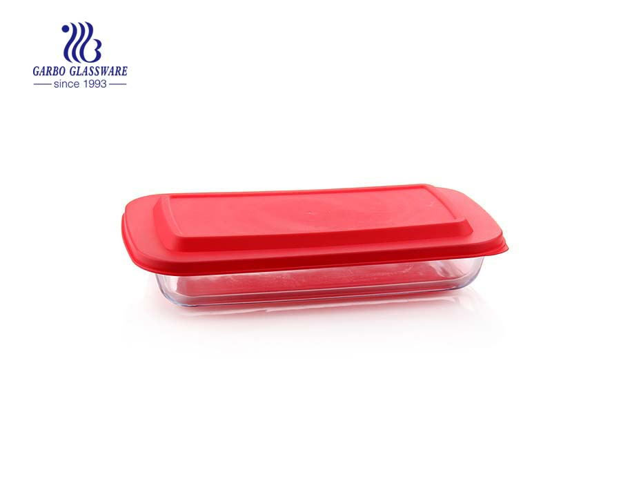 2.2L Baking glass dish with ear for oven safe