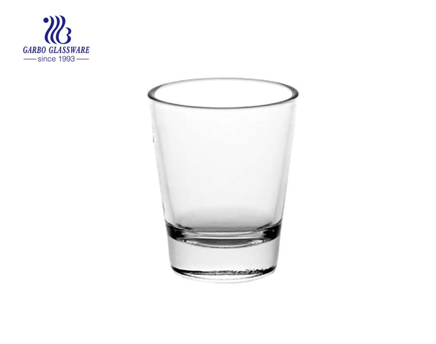 2.5oz Transparent engranved shot glass for wine drinking