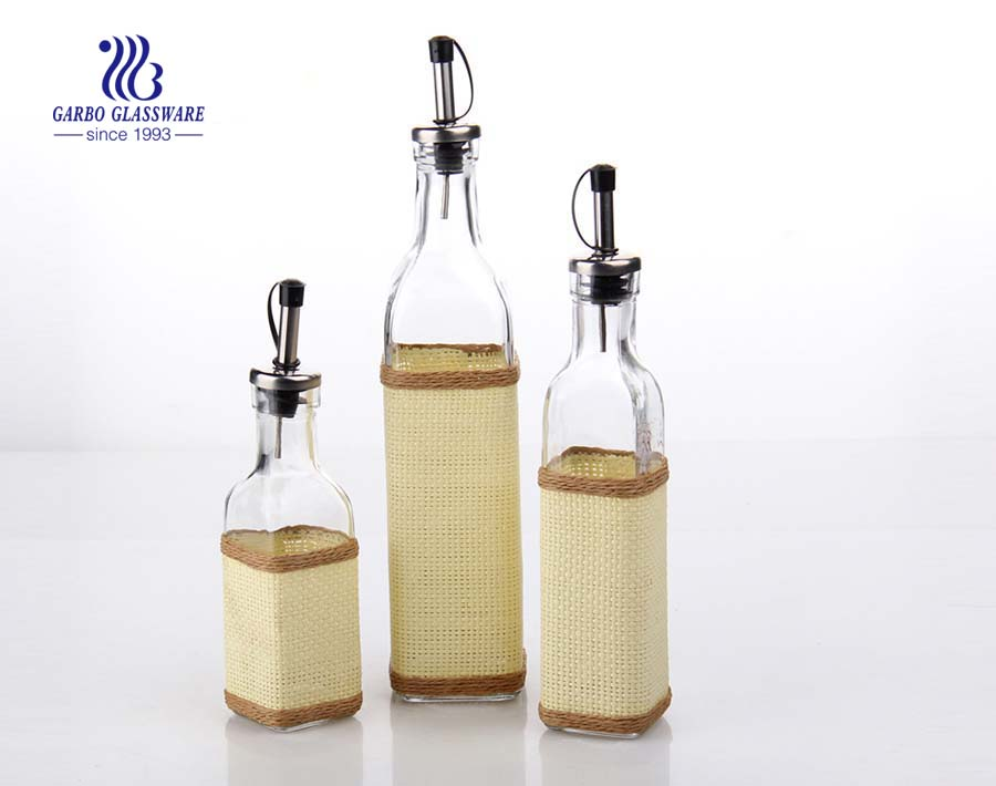 420ml Klarglasölflasche mit Deckel