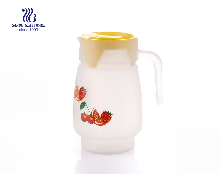 wholesale decal glass pitcher