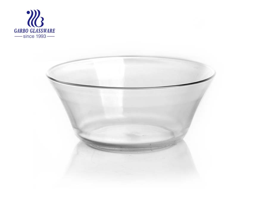 5 polegadas pequena venda quente design tigela de vidro do bolo