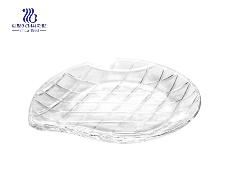 7.2 inch round glass cake plate