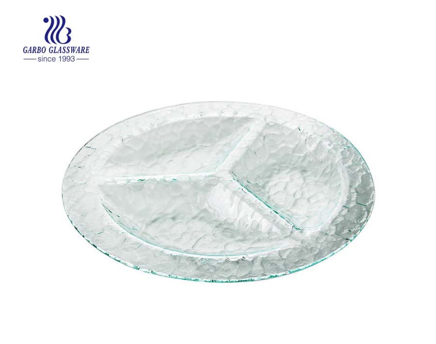 7 inch square shape glass dessert plate tableware glassware