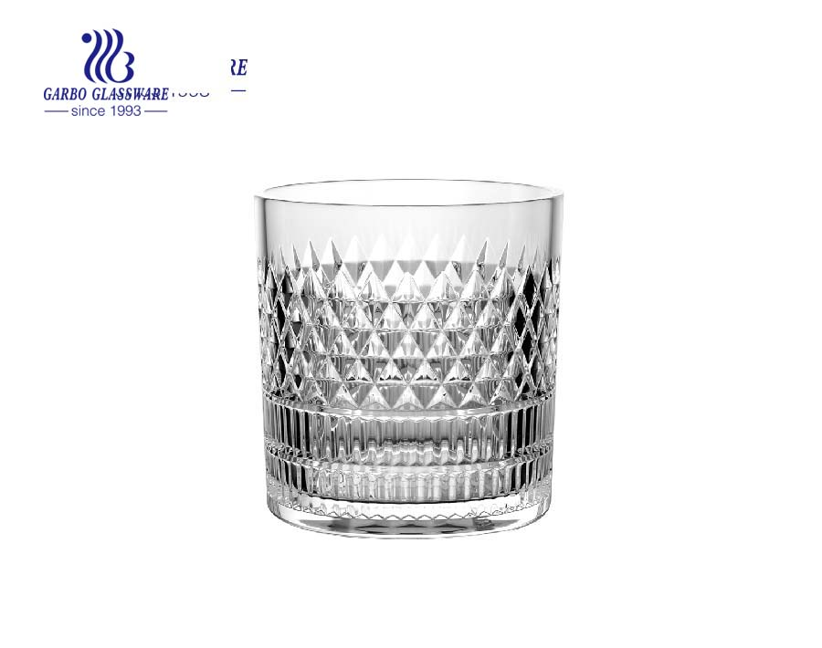 New design 10oz glass whisky wine tumblers