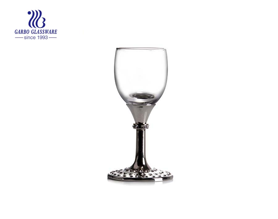 Wedding 500ml long metal stem red wine glasses