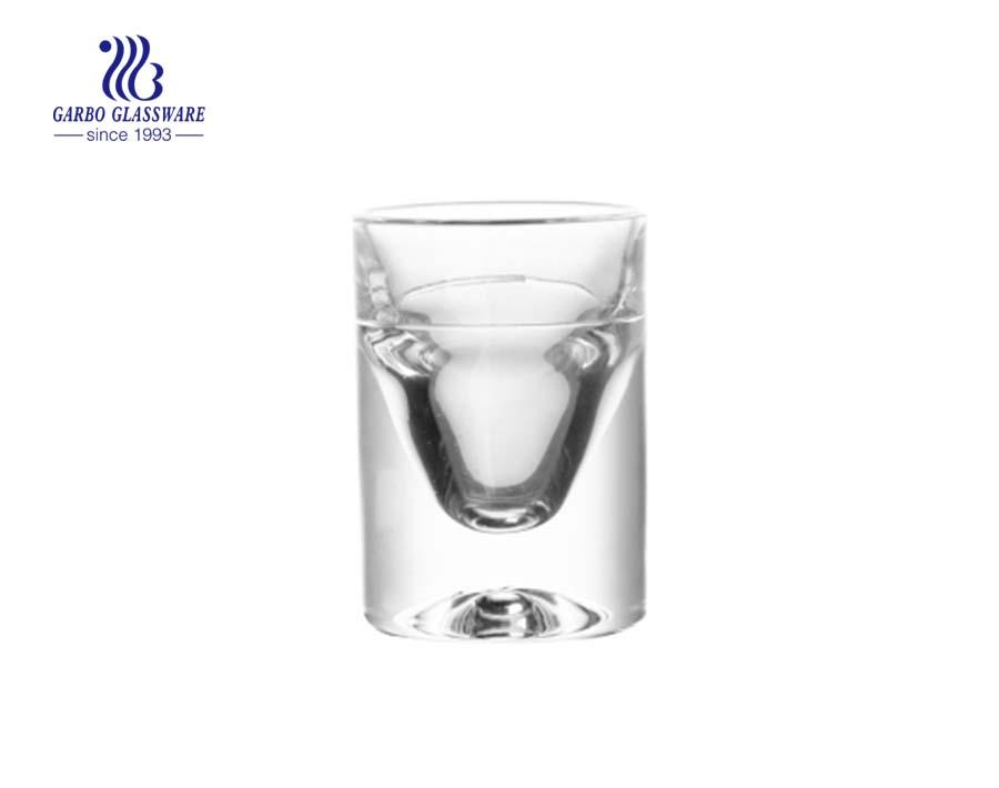 Vidros transparentes de 1 oz com pé espesso para beber vinho