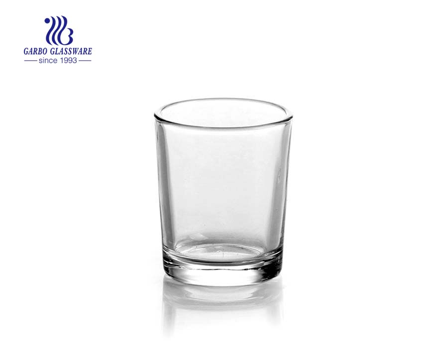 1oz Clear shot glas with thick foot for wine drinking