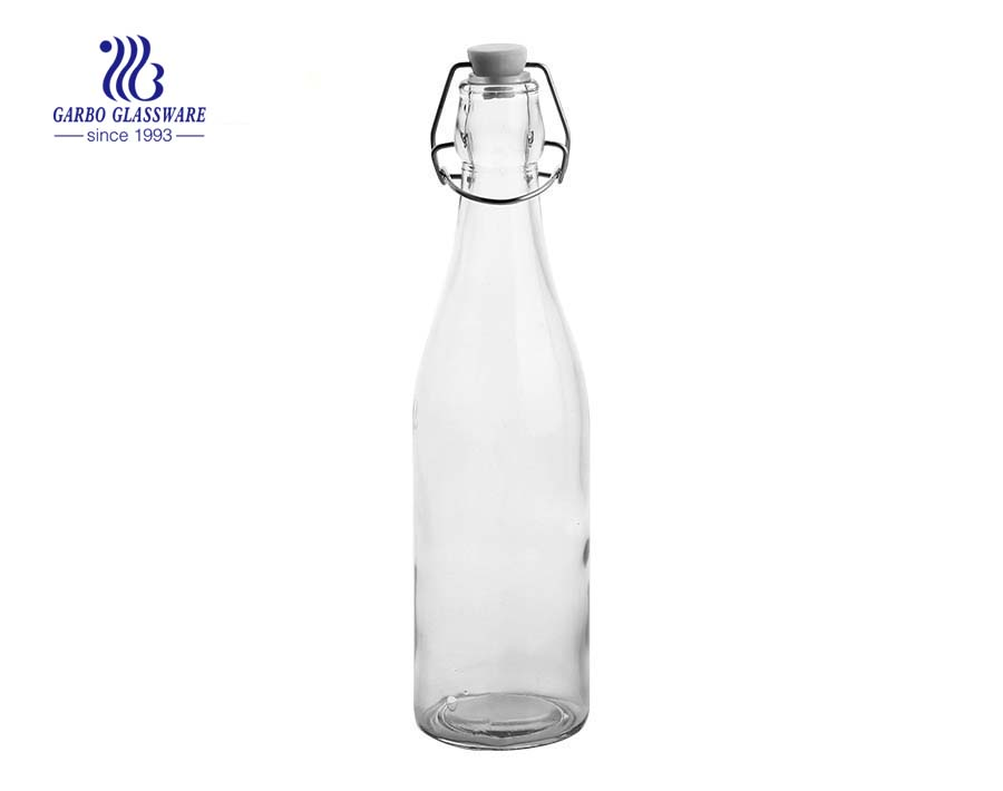 400ml Machine made spray color glass bottle
