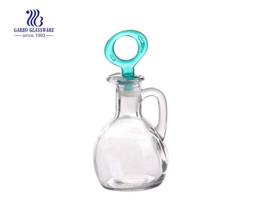 175ml Machine made clear glass oil bottle