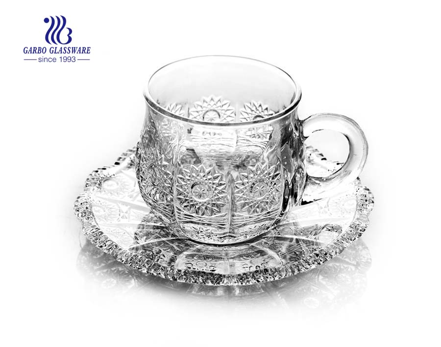 turkish tea set with saucer for tea time