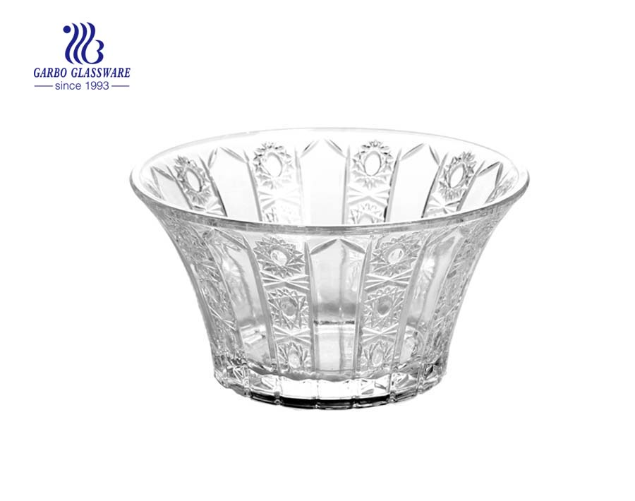 Sunflower Series of Glass fruit Bowl with stand