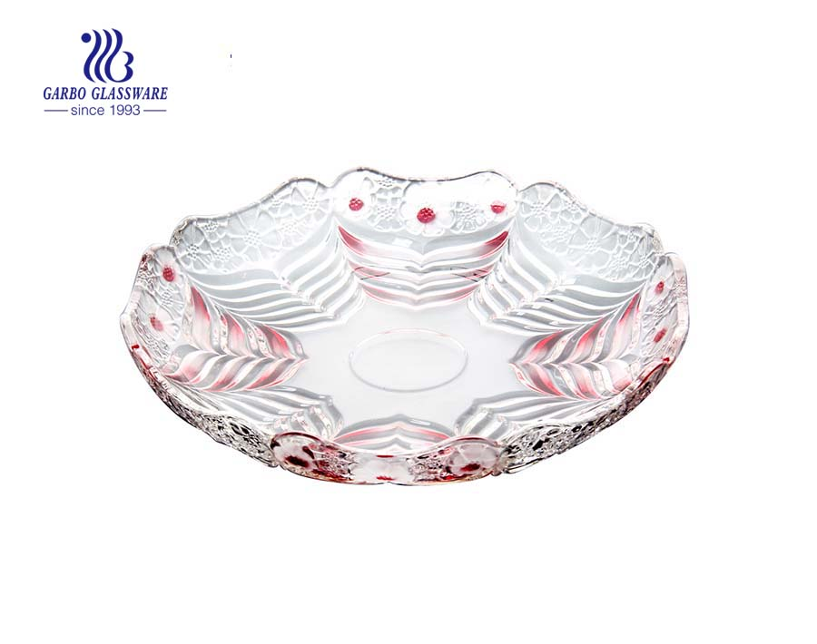 Prato de vidro para servir frutas na KTV e restaurante