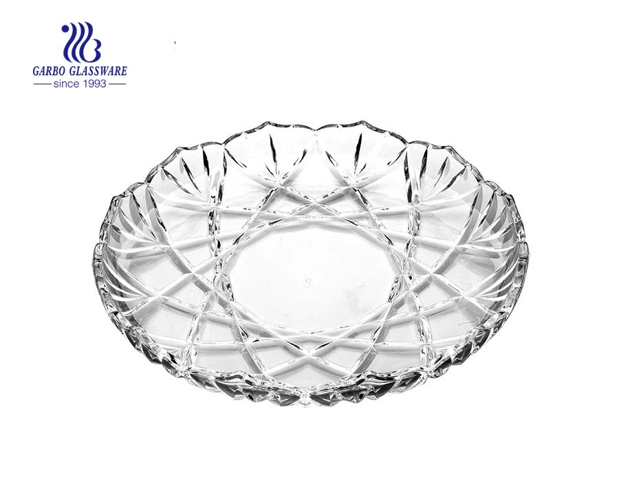 Glass Plate for serving fruit in KTV and restaurant
