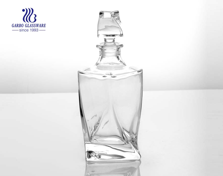 800ml high end irregular glass decanter bottle