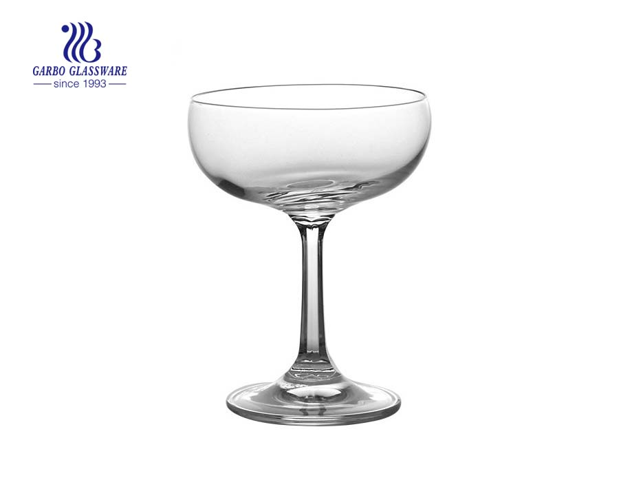 Margarita cocktail 200ml glass cup with stem mexican glassware wholesale gin glass
