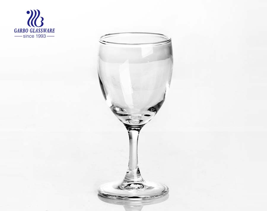 China glassware factory 25ml shot glass with diamond stem