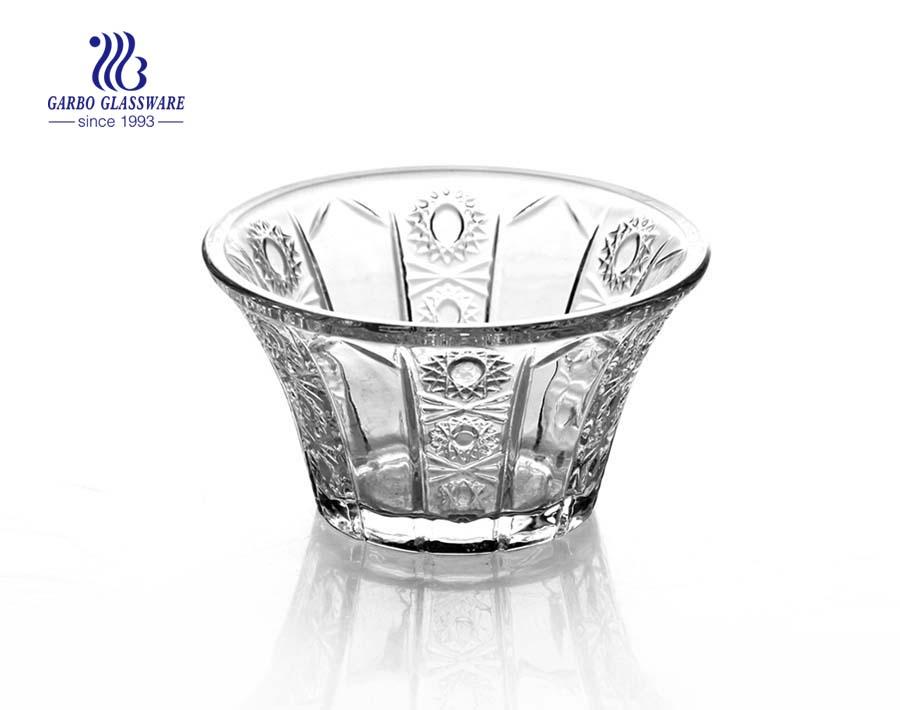 5.5-Zoll-V-Form Glas Salatschüssel ausgefallene individuelle Druck