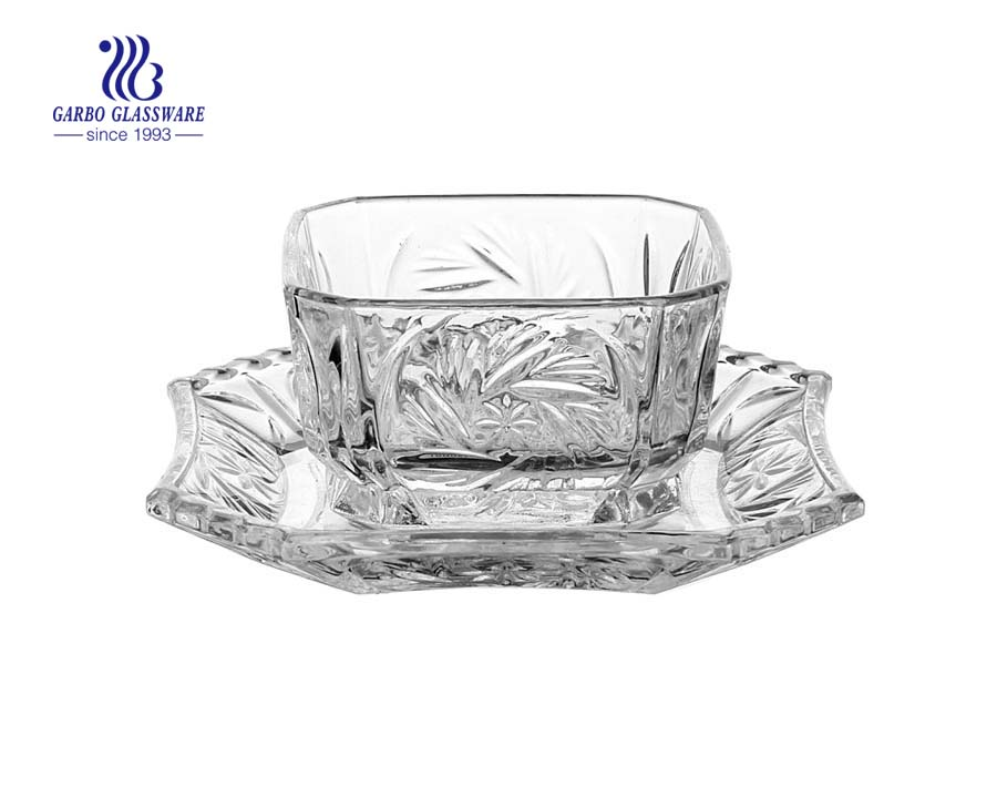4 inch modern clear glass sweet bowls for food