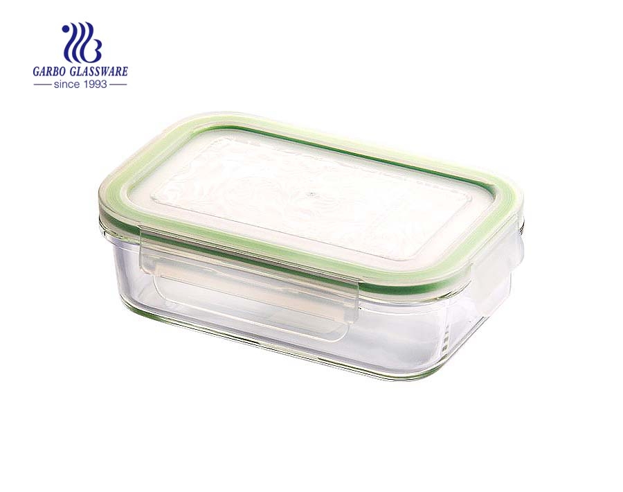 250ml Round food glass container with sealed lid