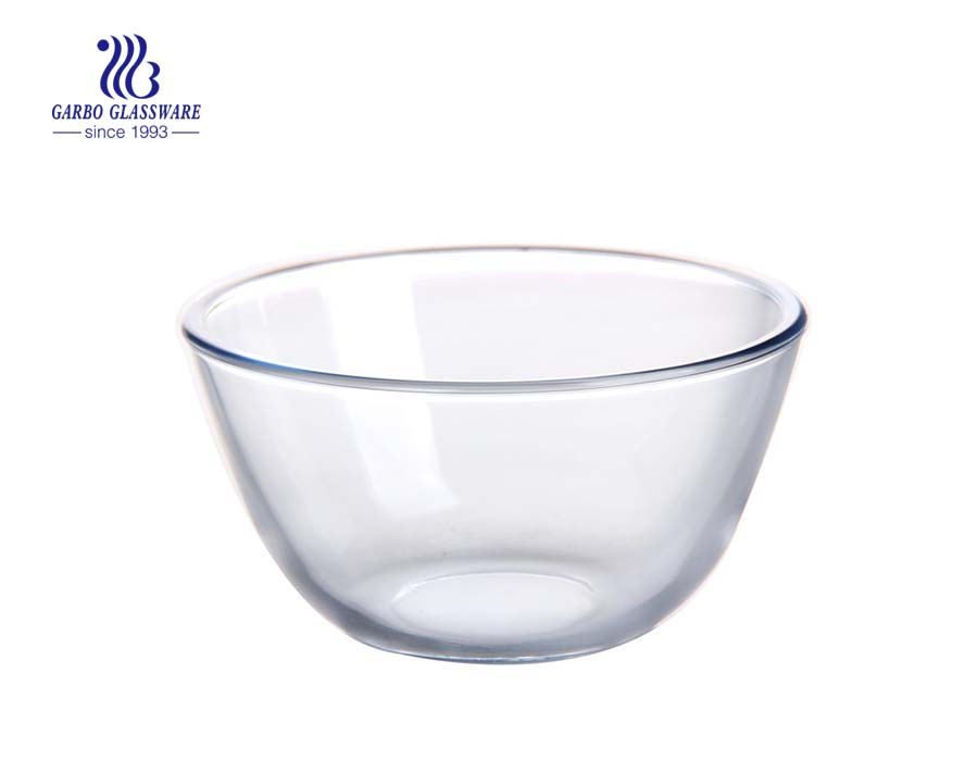 Simple style 7inch salad bowls glass