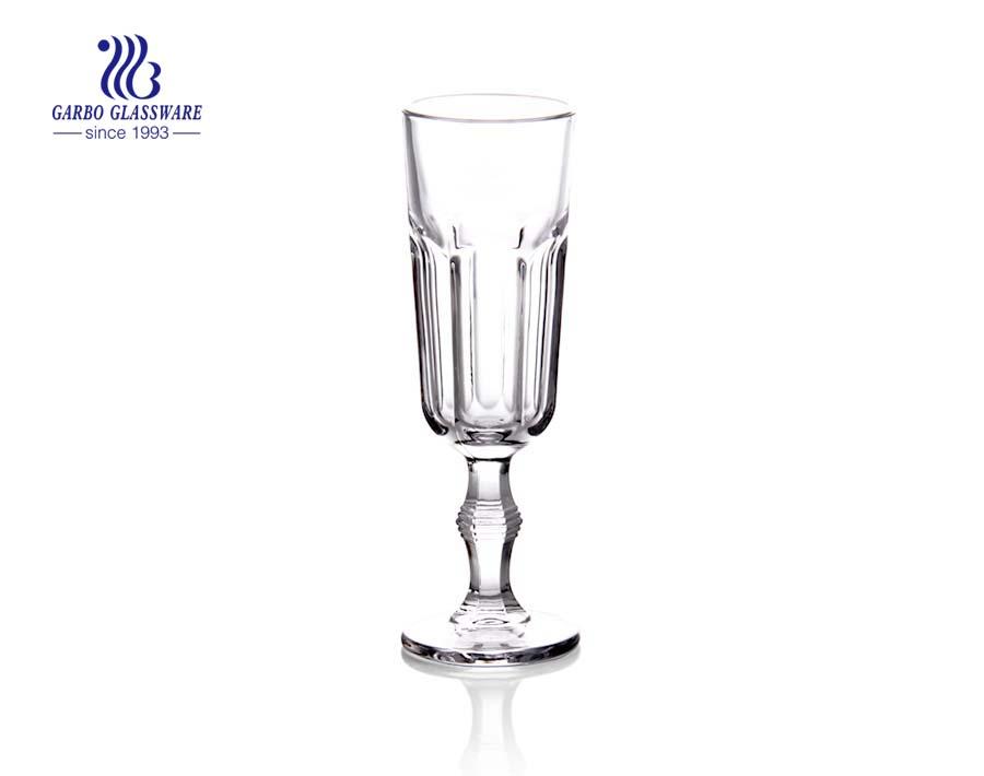 Copos de pedra alta de taças de vidro para vinho