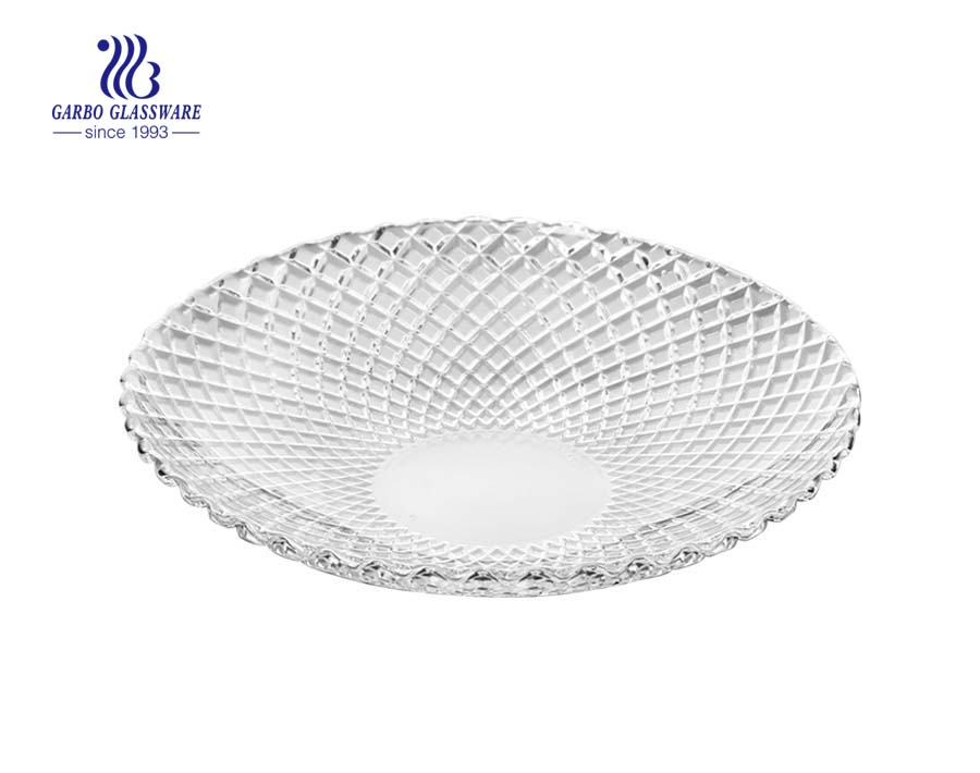 10.5 inch clear glass salad plates