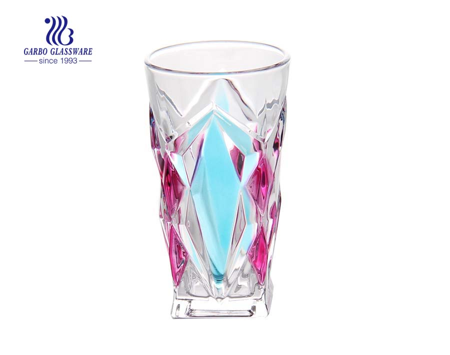 Spray Color Highball Glass Tumblers Set For Gift Set