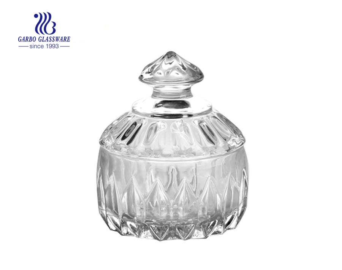 Forma de perfume barato pote de doces de vidro