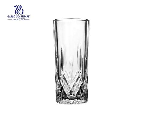 Copos gravados com suco de uísque de vidro de copo longo de 250 ml