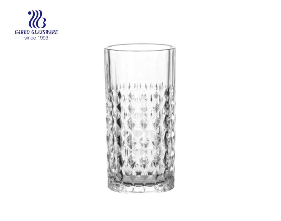 250ml Long tumbler glass whisky juice engraved cups