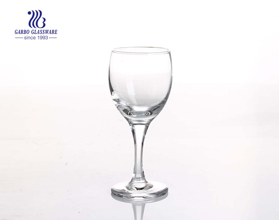 320ml big glass red wine cup with stem manufacturer