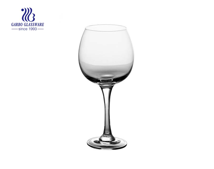 China stock big capacity glass stemware supplier