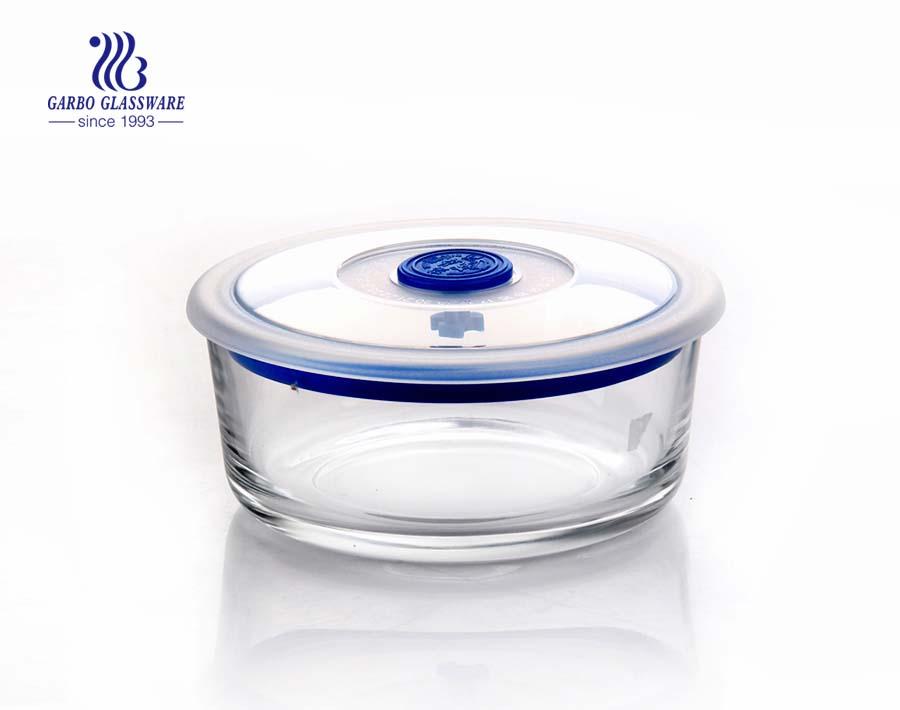 China stellt quadratischen Glasnahrungsmittelbehälter mit versiegeltem Deckel her
