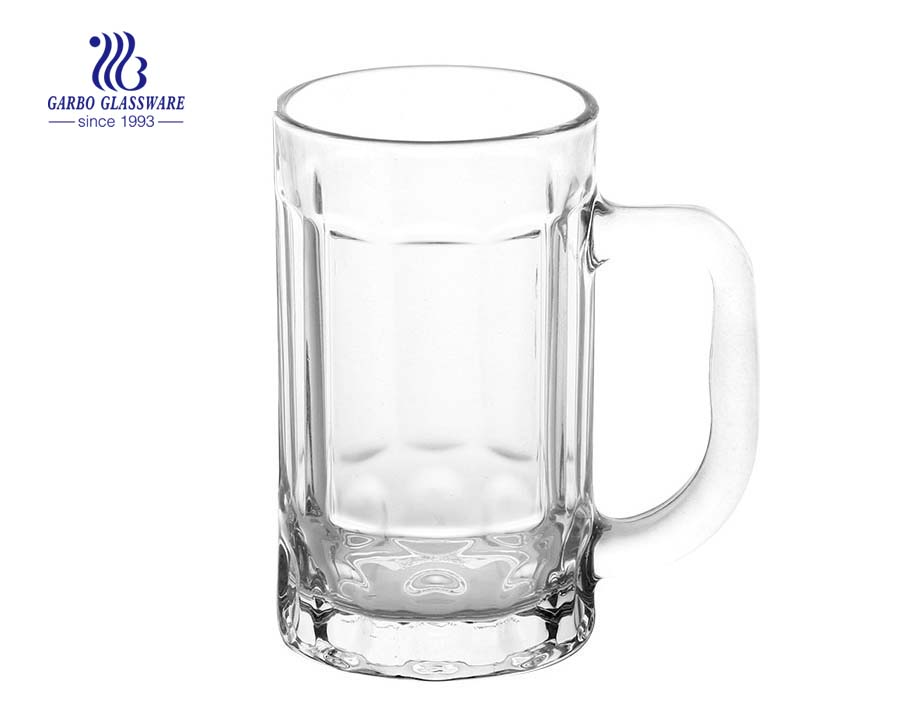 400ml large beer glass with handle