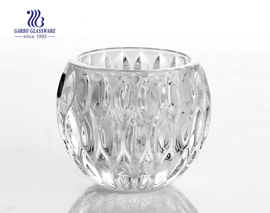 globos de vela de vidro transparente
