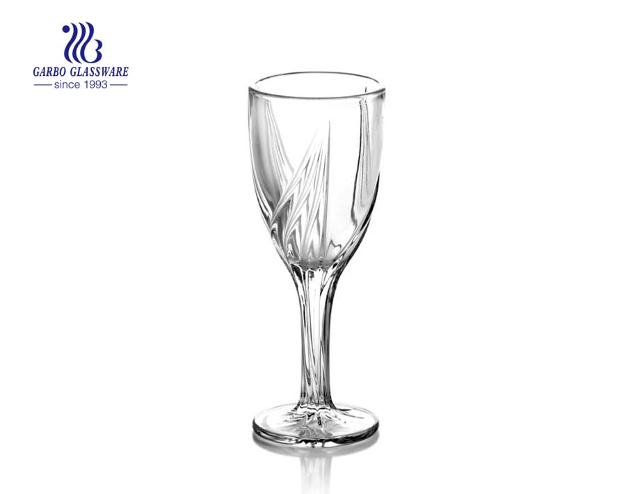 wine glass goblet with footed for juice drinking