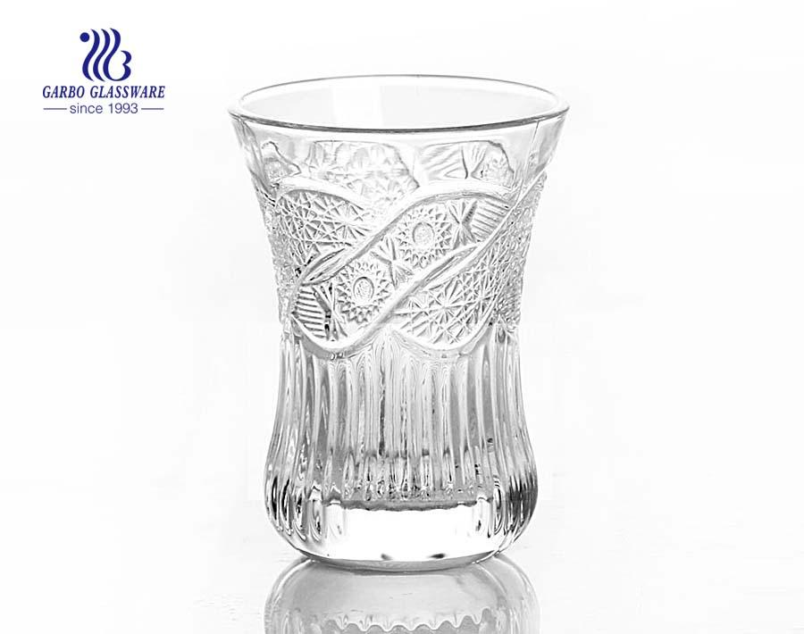 Cốc thủy tinh khắc chữ Ả Rập để uống nước trái cây