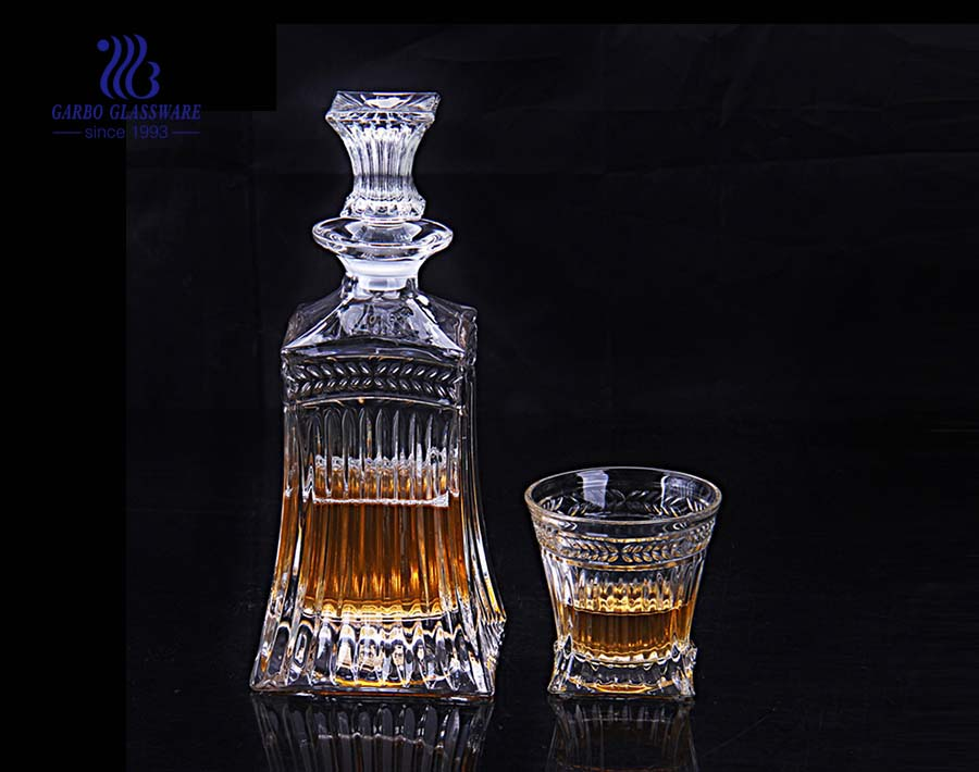 500ml classic glass decanter set with whisky glass cup