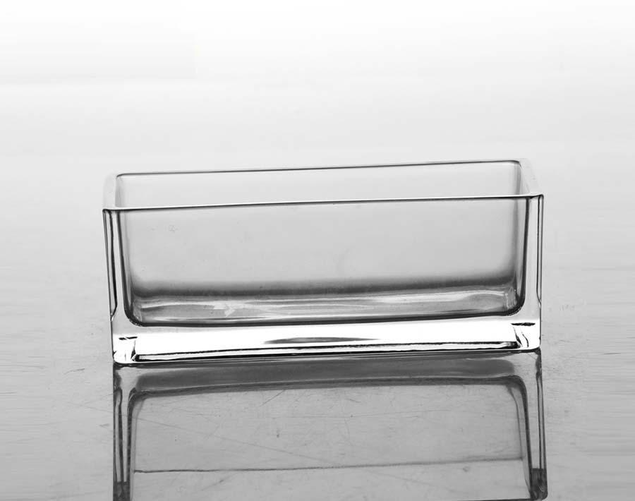 حاملي الشموع الزجاجية المربعة الكبيرة