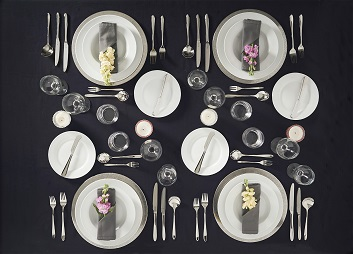 Complicated for me to know table setting-placement of glassware