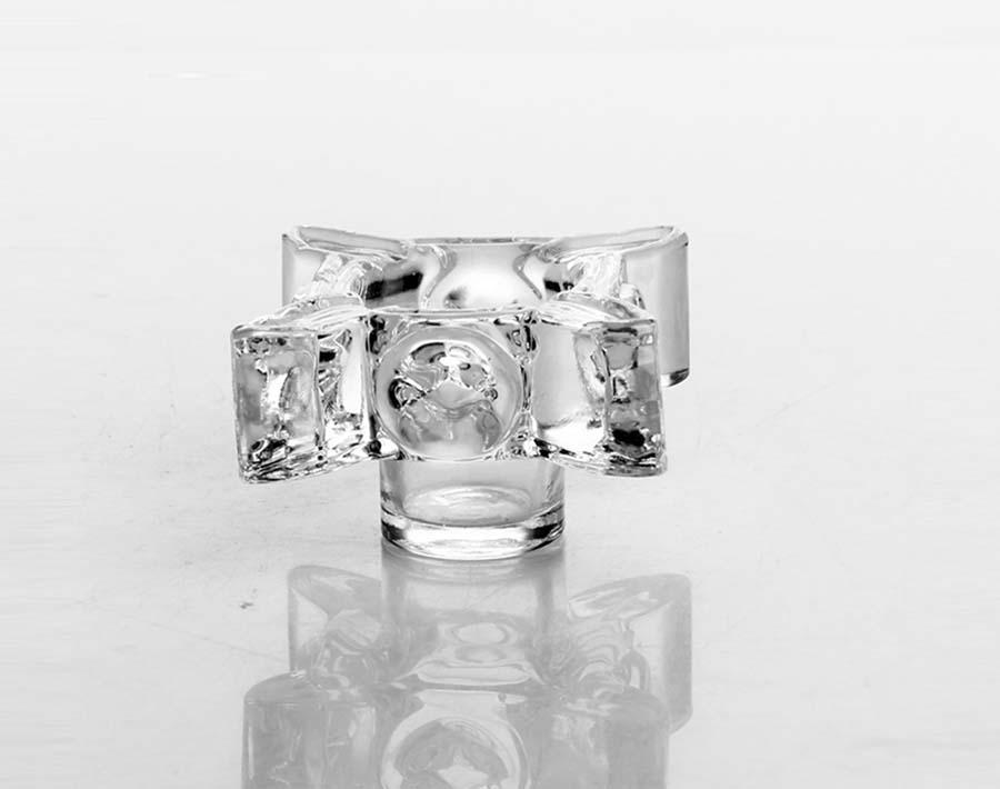 candelabros de cristal de antigüedades