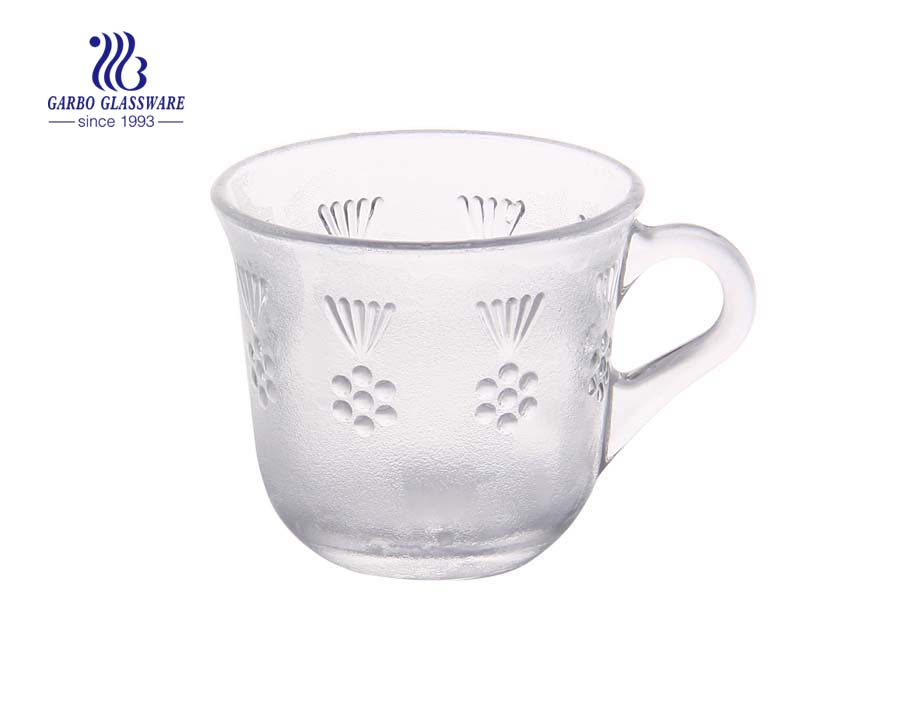 170ml glass coffee mug with handle