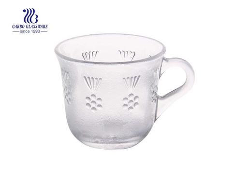 Taza de café de vidrio de 170 ml con asa